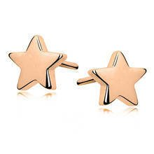 Silver (925) earrings stars gold-plated