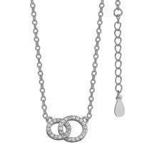Silver (925) necklace rings with zirconia