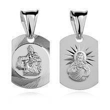 Silver (925) pendant -Jesus Christ / Scapular Mary