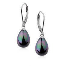 Silver earrings 925 tears - rainbow